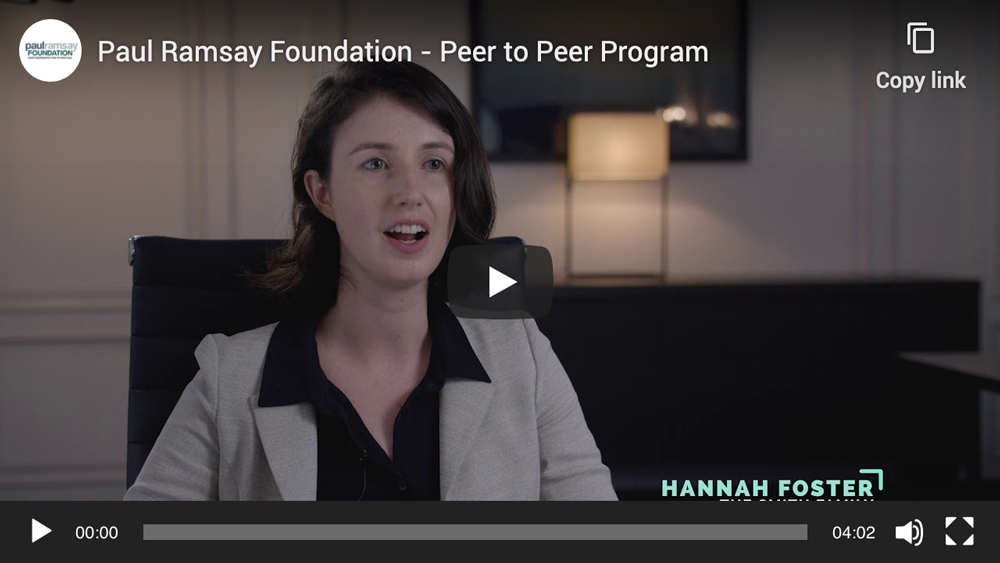 Paul Ramsay Foundation – Peer to Peer Program