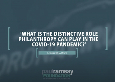 Live-Recorded Panel: What is the distinctive role philanthropy can play in the COVID-19 pandemic?