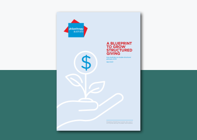 A blueprint to grow structured giving